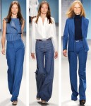 The 70s denim look on the Derek Lam runway.