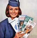 This Pan Am stewardess has just the ticket for your vintage clothing needs.
