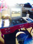 Vintage vanity at The Alameda Point Antiques Faire by Pretty N Chic furniture, painted by Kimberly Burbine