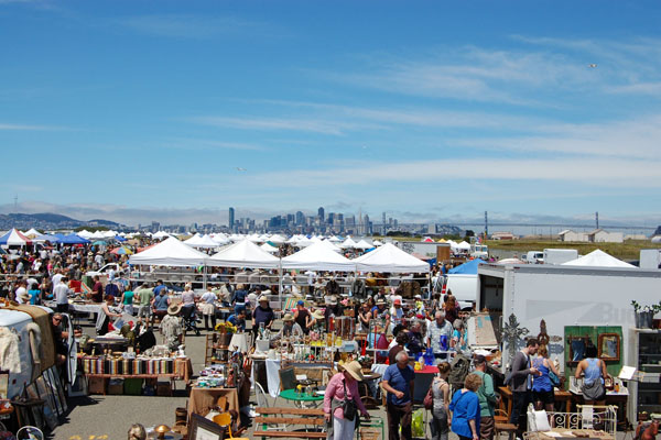 The Alameda Point Antiques Faire in Alameda, California